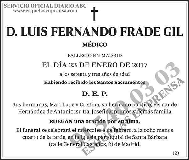 Luis Fernando Frade Gil